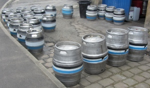 A sight for thirsty eyes outside the Irwell Works Brewery