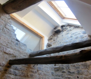 Some of the original beams at The Rake Inn, Littleborough