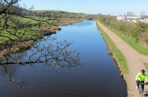 The Rochdale Canal looking towards Littleborough