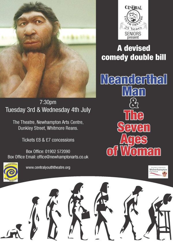 Neanderthal Man and Seven Ages of Woman flier