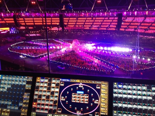The closing ceremony of the 2012 Olympic Games from the lighting desk