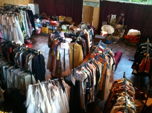 Some of the costumes after the move to the antiques market