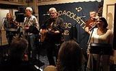 The John Richards Band, from the left, Ronin Tudor, Chris Drinan, John Richards, Jim Sutton and Emma