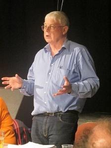 Jim Barrow - the Burslembandit - speaking at the Folk21 West Midlands event at the Newhampton Arts Centre , Wolverhampton