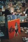 Pauline Boty with the missing Christine Keeler picture