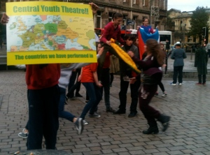 Central Youth Theatre flashmob in Queen Square