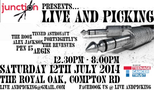 Live and Picking Junction Festival poster 2014