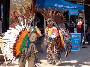 Ecuadorian dancers/musicians in Dudley Street, Wolverhampton