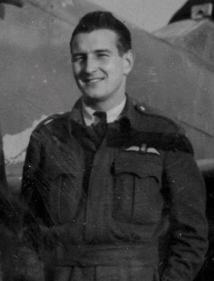 The Inspirer pilot Gerald Bickle Whitney Junior of 401 Squardron pictured in his uniform
