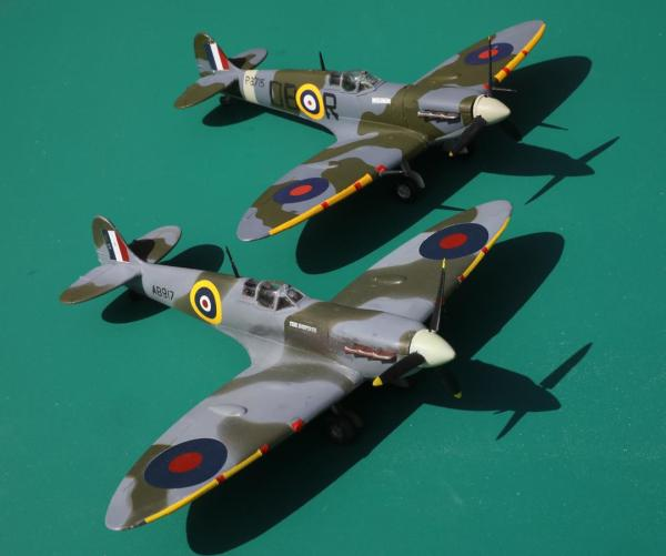 Scale models of The Inspirer and Wulfrun Spitfires